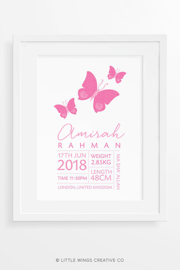 Muslim Baby Name Islamic Wall Art For Girls