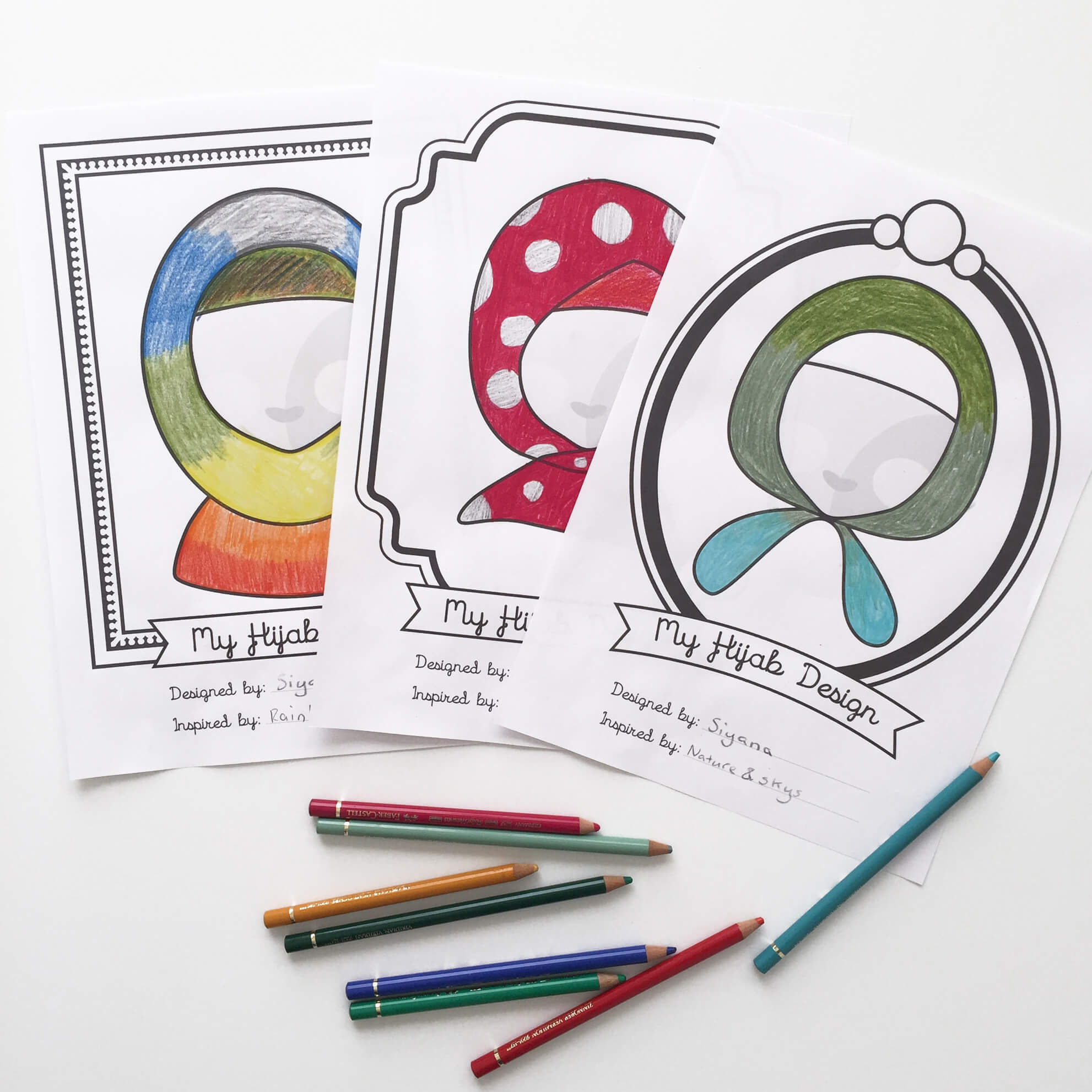Design a hijab printable
