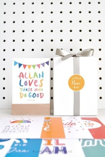 Little Noor Box (Rainbow) Islamic Reminders For Kids
