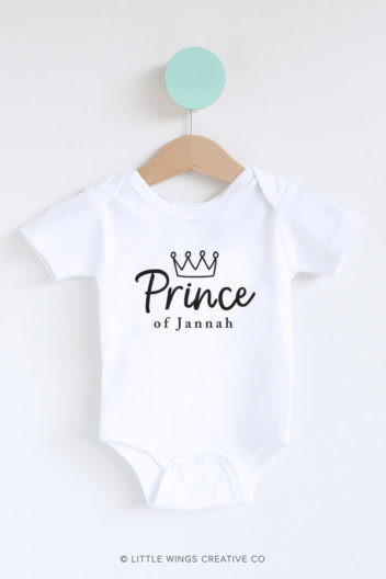 Prince of Jannah Muslim Baby Onesie Romper for Boys