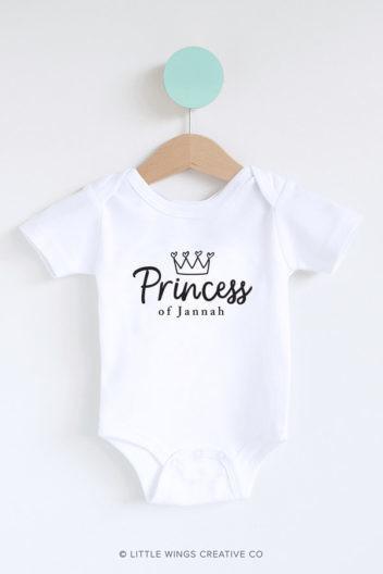 Princess of Jannah Muslim Baby Onesie Romper-3