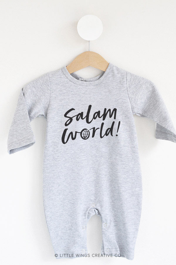 Salam World Grey Muslim-Baby Onesie Bodysuit 2