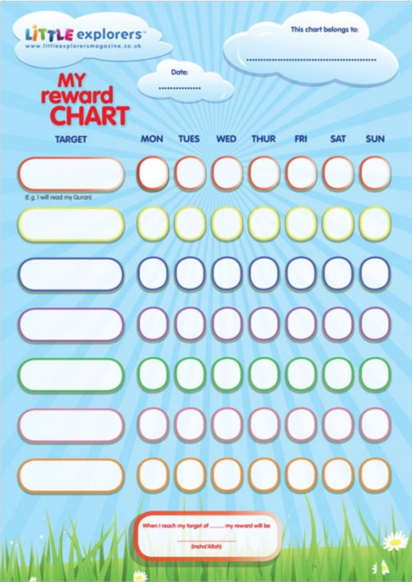 Reward Chart Little Explorers