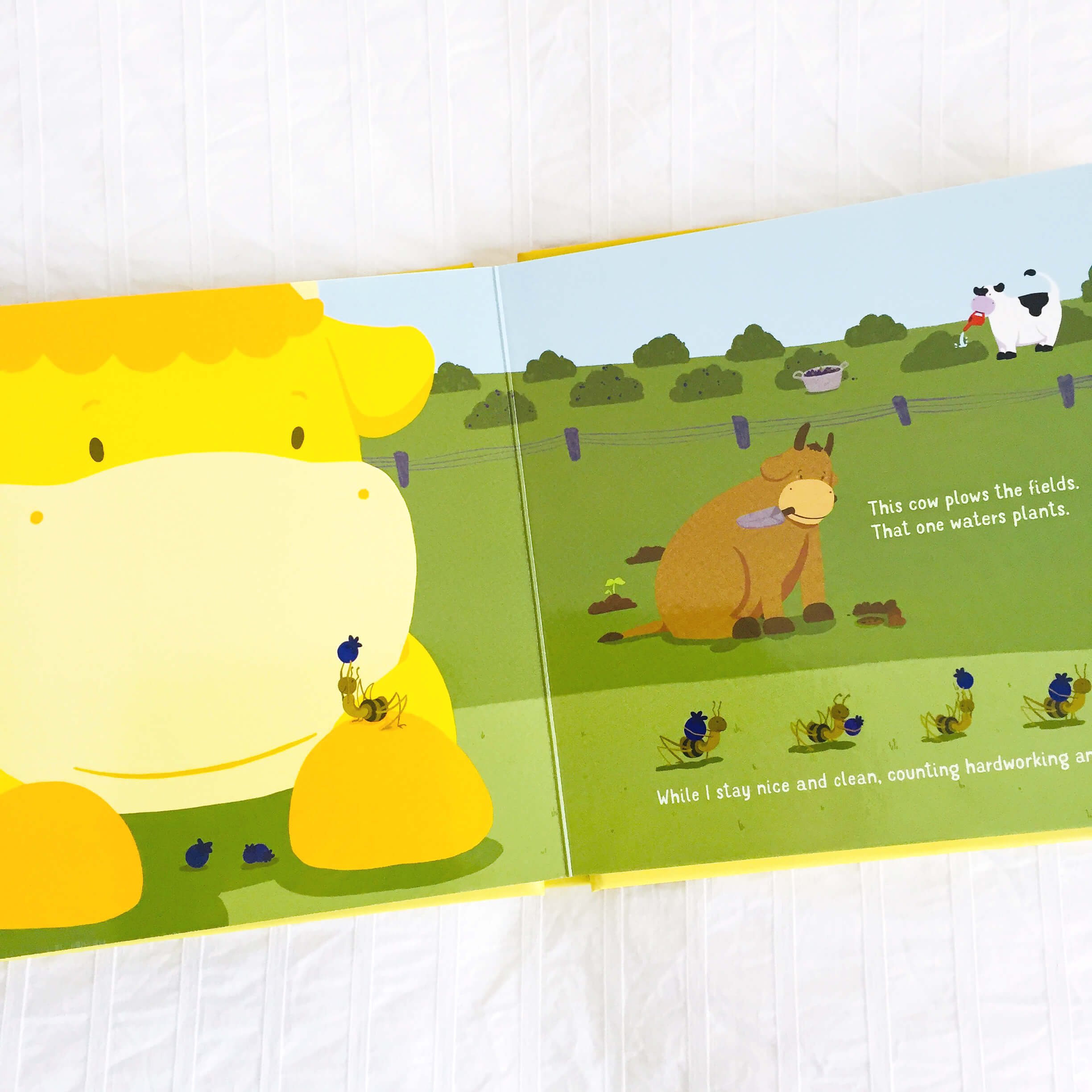 The Yellow Cow Book Spread 2