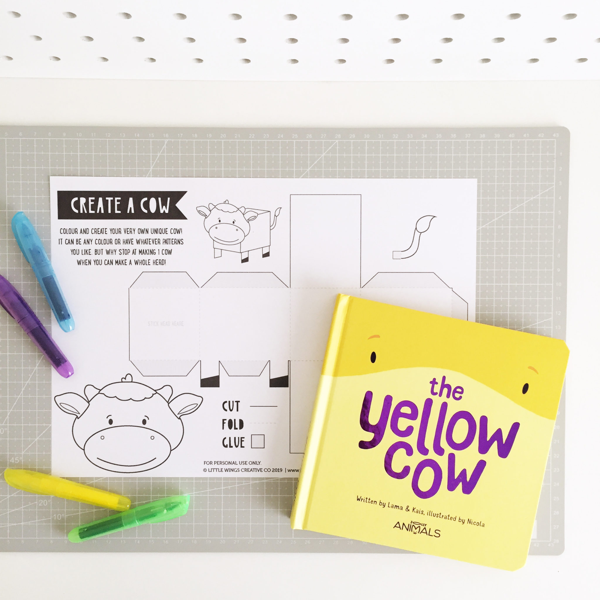 Yellow Cow Craft Printable 1